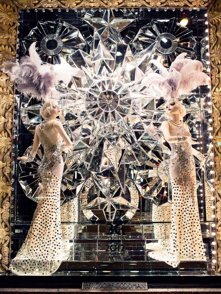 Behind the scenes, Bergdorf Goodman window display