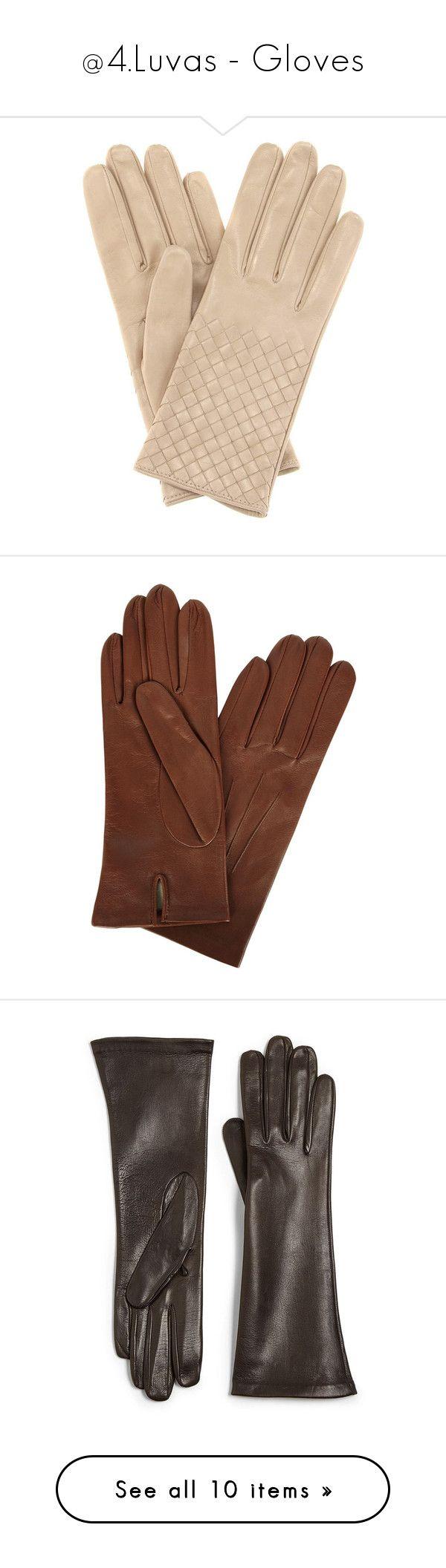 """@4.Luvas - Gloves"" by rafakeka on Polyvore featuring accessories, gloves, beige, beige gloves, beige leather gloves, bottega veneta, real leather gloves, leather gloves, brown e vintage gloves"