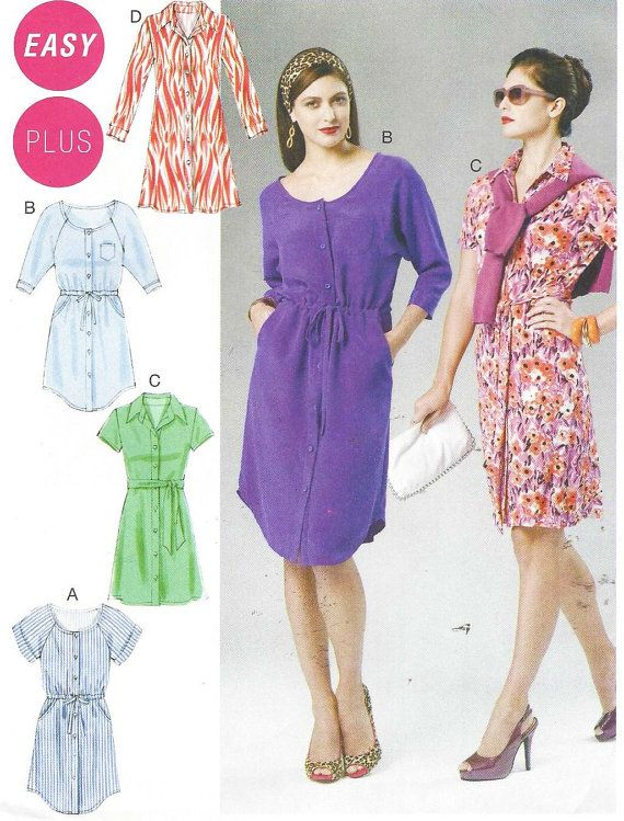 McCalls Sewing Pattern M6520 Womens Shirtdress and by CloesCloset