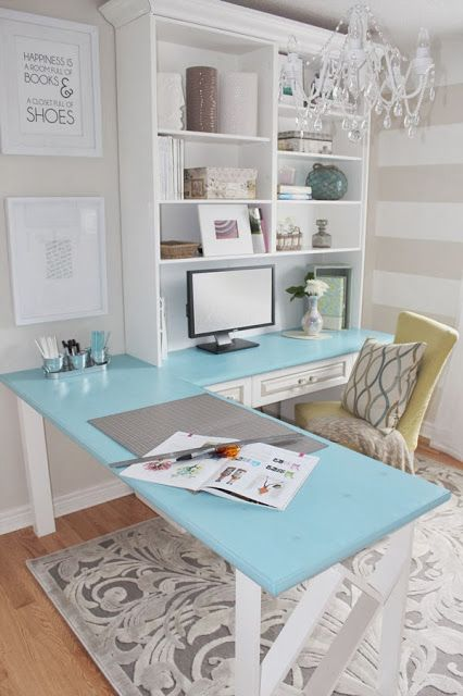 Our #1 desk choice for 2 offices.  We like the materials but would prefer a bit more modern shelves - maybe omit crown molding and a different color desk top.