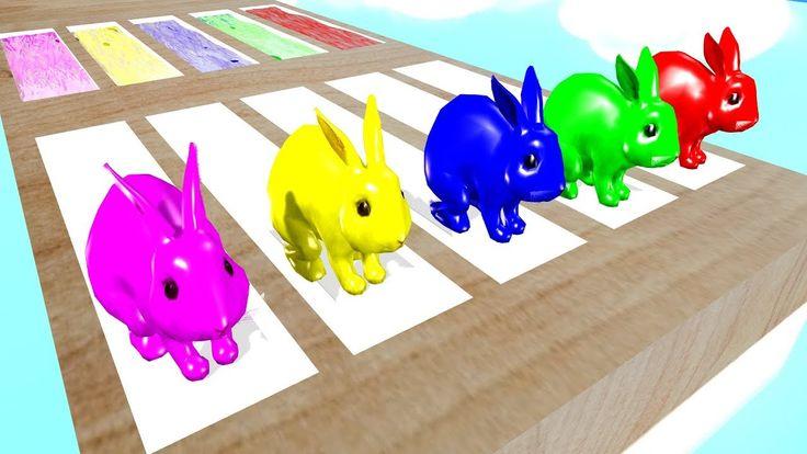 Learn Colors Animals Rabbit Eat Fruits Colors     Cartoon Nursery Rhymes...