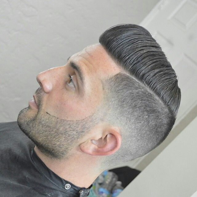 Parted w/ Tight Fade