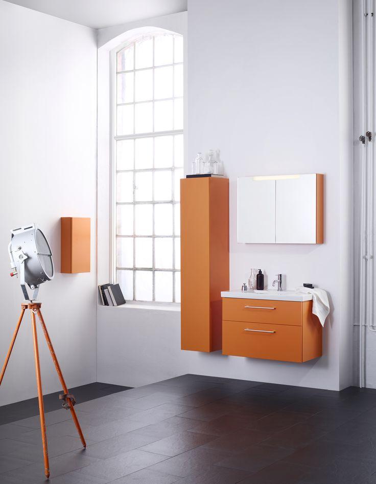 Aspen Badrum / Viskan / Orange / Scandinavian / Design / Bathroom Furniture NCS