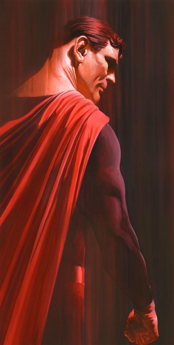 Shadows: Superman Signed by Alex Ross - Artinsights Film Art Gallery