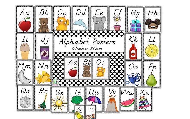 Dnealian handwriting alphabet poster