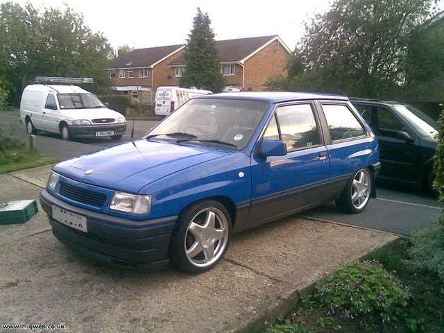 My first car was a Blue Vauxhall Nova SRI. ***Jason Hotchin Goods In***