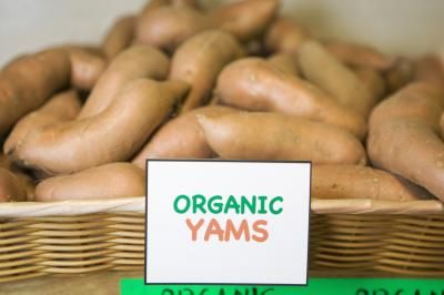 Sweet Potato Vs. Yam Nutrition    Sweet Potatoes have only 50 calories per 8 oz more than Yams.  However, the Nutritional Value and Fiber are much better in the Sweet Potatoes.