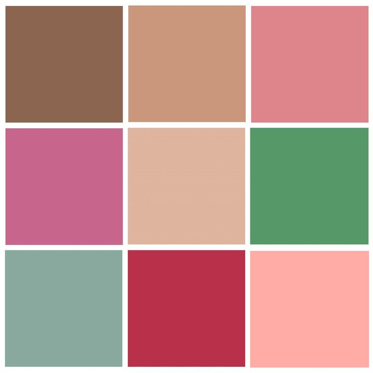 палитра розовый, светло-каштановый, лососевый цвет.