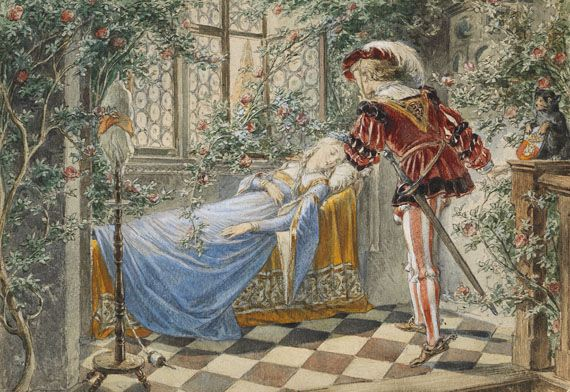 Märchendarstellungen zu Dornröschen