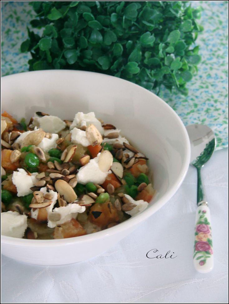 Porridge Salé au Pesto, Légumes & Chèvre Frais 001