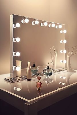 Diamond X Mirror Finish Hollywood Makeup Mirror Daylight Dimmable LED k253CW in Health & Beauty, Make-Up, Make-Up Tools & Accessories | eBay
