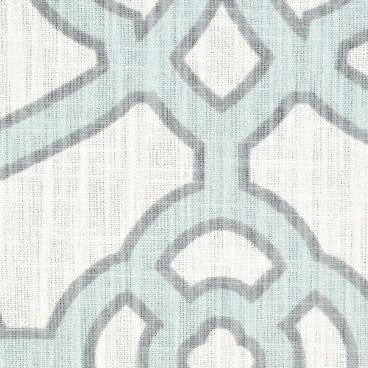 P. Kaufmann Pavilion Fretwork Tropical Blue Fabric
