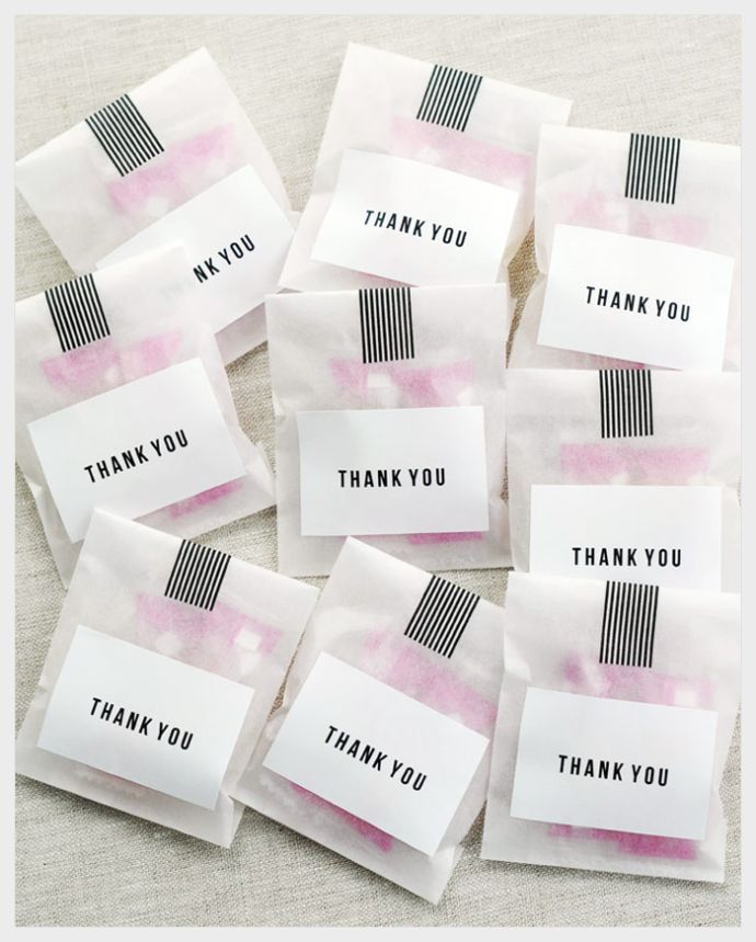 Thank You Treat Bags by // @Sally McWilliam  J Shim #party