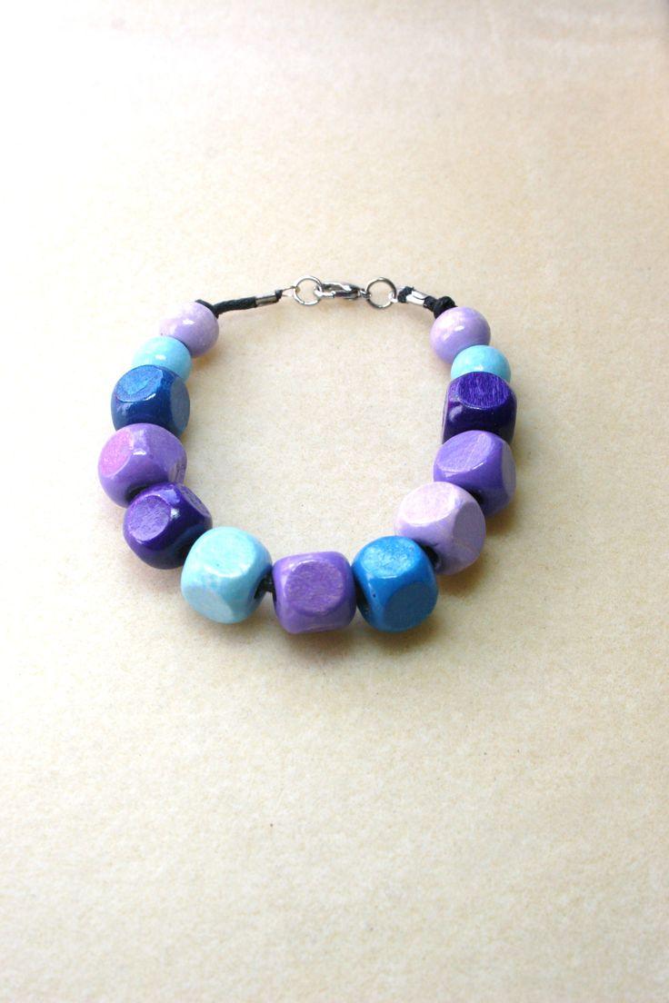 Blue tone wooden bracelet  www.facebook.com/Supposejewellery
