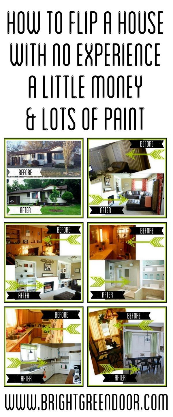 How to Flip a House with No Experience, A Little Money, and LOTS of Paint. www.BrightGreenDoor.com