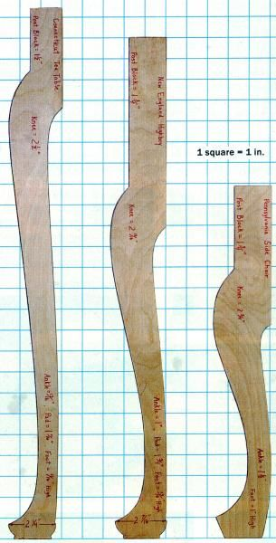 queen anne leg template - 38 best images about modelos cabriolete on pinterest