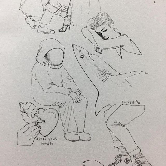 아 이거 너무 힘든 일요일인데.. #취미 #낙서 #그림 #doodle #drawing #sketch