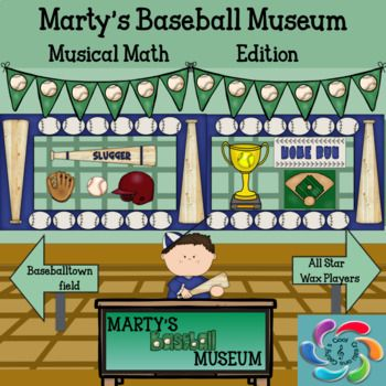 Martys Baseball Museum is an interactive game to help students practice note values and and provide teachers an opportunity to assess students in the process.  Students also learn about Americas Greatest Past time, Baseball in the process.  Students travel through three scenes in the museum and click on different objects/ people to get note values facts to practice.