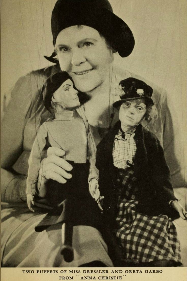 Now this is creepy! Puppets of Greta Garbo and Marie Dressler from Anna Christie.