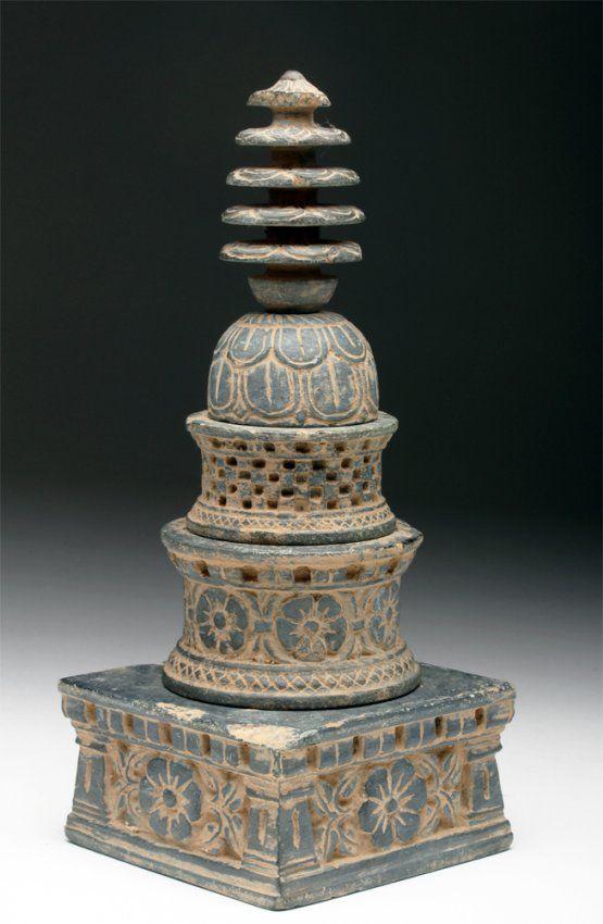Gandharan Schist Stupa Model : Lot 41