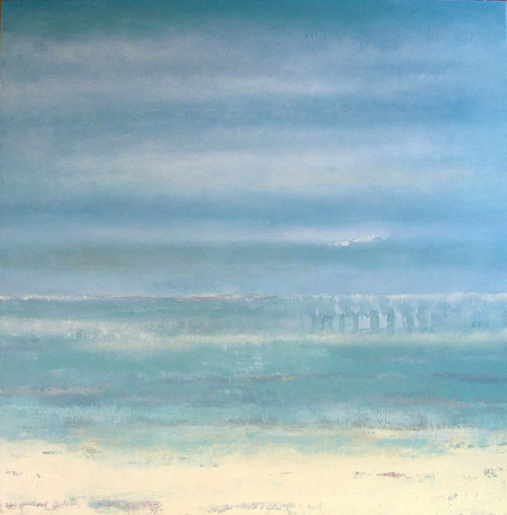 Misty Henge. 100x100cm. Oil painting by Liz Jameson. Private commission for Chicago home.