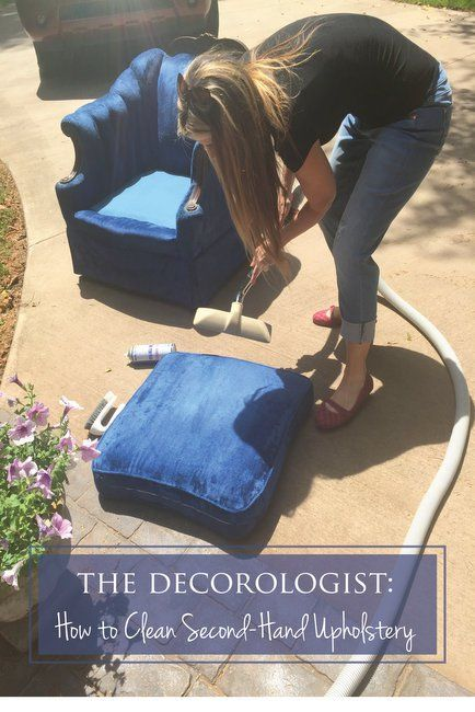 How to Clean Second-Hand Upholstery you find at estate sales and antique malls. Step-by-step guide by The Decorologist.