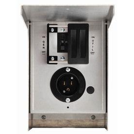 Generac 15-Amp Single Circuit Manual Transfer Switch 6375