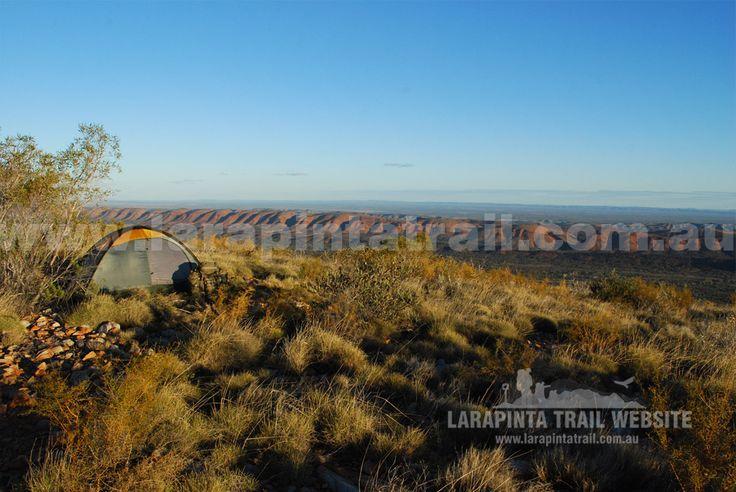 One of the many great rewards of the Larapinta Trail - endless on top of the world views. (http://www.larapintatrail.com.au/s8.html). © Explorers Australia Pty Ltd 2014