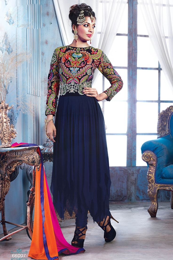 Bollywood Actress Mugdha Godse Inspired Latest Party Wear Salwar Kameez