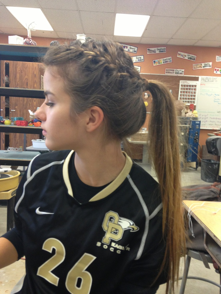 Cute Volleyball Hairstyles For Long Hair : Images about softball hairstyles bows on