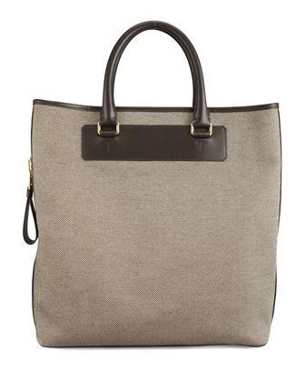 $2,580, Canvas Side Zip Tote Bag by Tom Ford. Sold by Neiman Marcus. Click for more info: http://lookastic.com/men/shop_items/142730/redirect