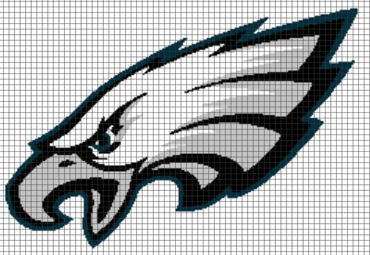 Looking for your next project? You're going to love PHILADELPHIA EAGLES Graphghan Pattern by designer YarnLoveAffair.