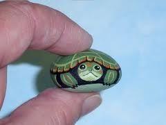 turtle painted rock- cute:)