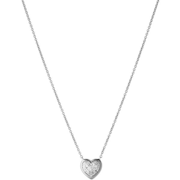 Diamond Essentials Pave Heart Necklace ($200) ❤ liked on Polyvore featuring jewelry, necklaces, accessories, colares, diamond jewelry, diamond pendant necklace, heart shaped necklace, heart pendant and heart shaped diamond pendant