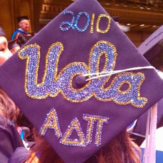 Ucla And Adpi Graduation Cap Graduation Cap Decorations