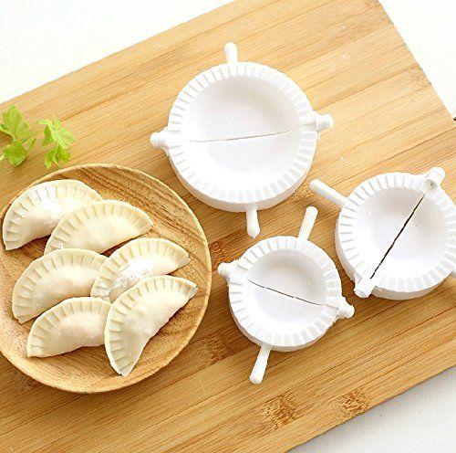 YEDAYS 3pcs Kitchen Dumpling Press and Pierogi Maker Dumplings Mold Press Large Medium and Small Size Set