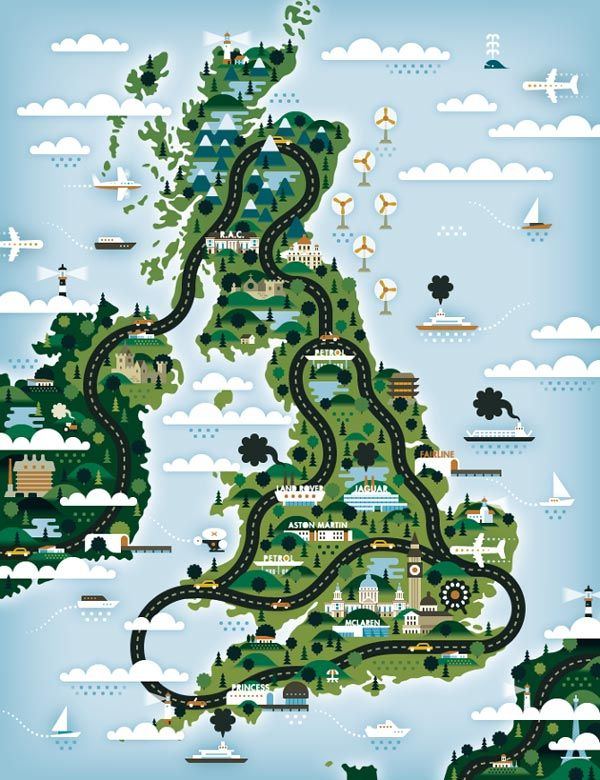 Good Toys illustration, UK Version for The Good Life Magazine #illustration #map #uk