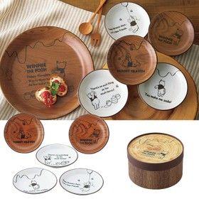 ディズニー食器セットお皿ギフトプーさんセットアソートプレートセット紙管ボックス入3524-01