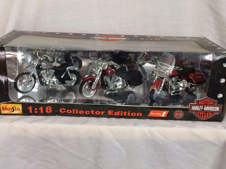 Maisto 1:18 Collector Edition Series 1 Motor Harley Davidson Cycles Die Cast #Maisto