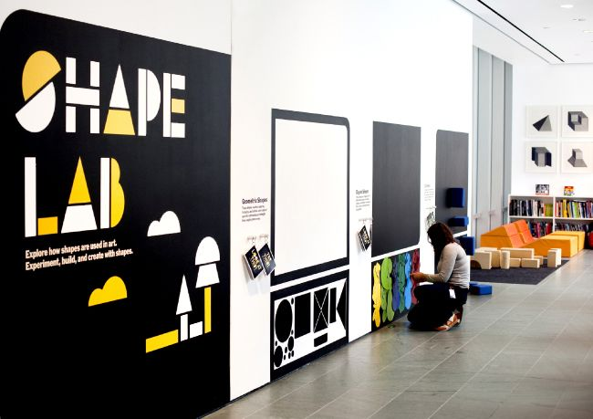 MoMA's Shape Lab: An interactive space designed by educators to engage visitors in thinking about how shapes are used in art.  Besides engaging visitors in all ages in one of the most basic elements of art, this space brilliantly doesn't seem to take up much room!