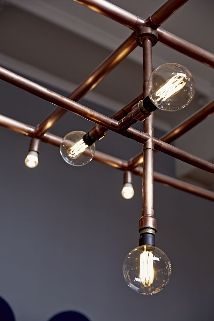 LIGHTING | GBK Canterbury by Moreno Masey Architecture + Interiors. Completed 2015. Canterbury, Kent, UK. Copper conduit lighting rig built within a former cinema and dance hall, heritage building. Lighting Rig by Arc Lighting. #Canterbury #GBK #Gourmet #Burger #Kitchen #Moreno #Masey #Architecture #Interiors #Design #ResBarDesign #Awards #2016 #Heritage #Building #Interior #Copper #Lighting #Arc #2015 [ok]