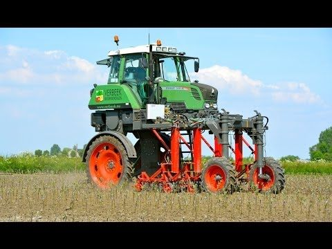 Special FENDT 310 Vario High Clearance - Hoeing apple trees - YouTube