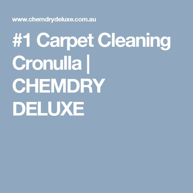 #1 Carpet Cleaning Cronulla | CHEMDRY DELUXE