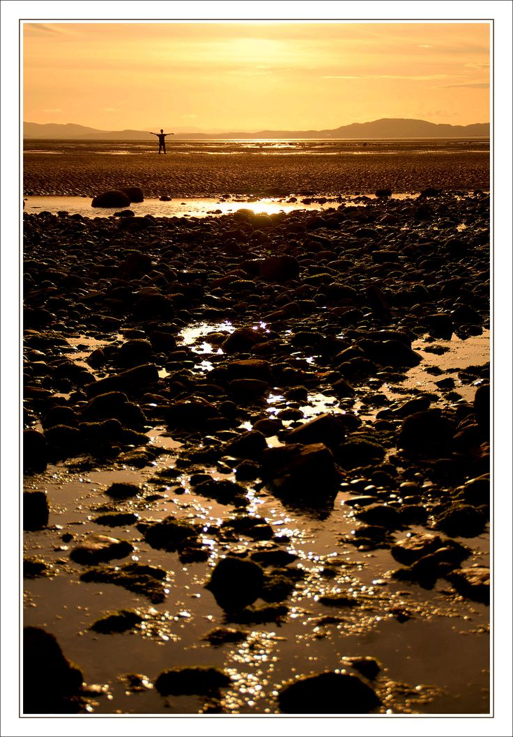 Sunset over the Solway on the West Cumbrian coast.