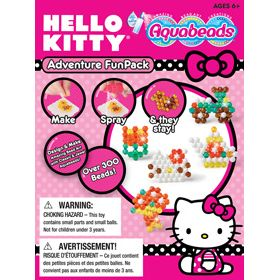 A great introduction to Hello Kitty Aquabeads! This set includes over 300 jewel and white classic beads, 4 mini templates, mini layout tray, mini bead case and mini spray bottle. Have fun using the enclosed templates, or create your own amazing bead art creation. Set also includes instructions with 5 additional templates.