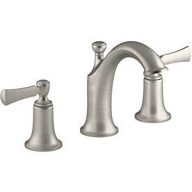 KOHLER Elliston Vibrant Brushed Nickel 2-Handle Widespread Bathroom Sink Faucet Drain Included $159 Lowes
