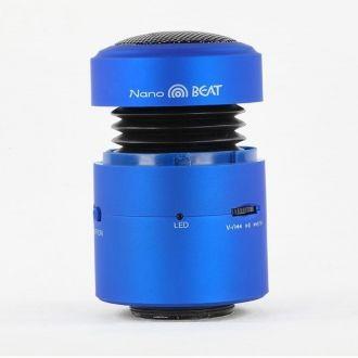 Smart Me Głośnik Nanobeat Niewielkie urządzenie, które możesz zabrać ze sobą gdzie tylko zapragniesz, pozwala na osiągnięcie poziomu głośności i jakości dźwięku niespotykanego w urządzeniach o tej wielkości.   niebieski