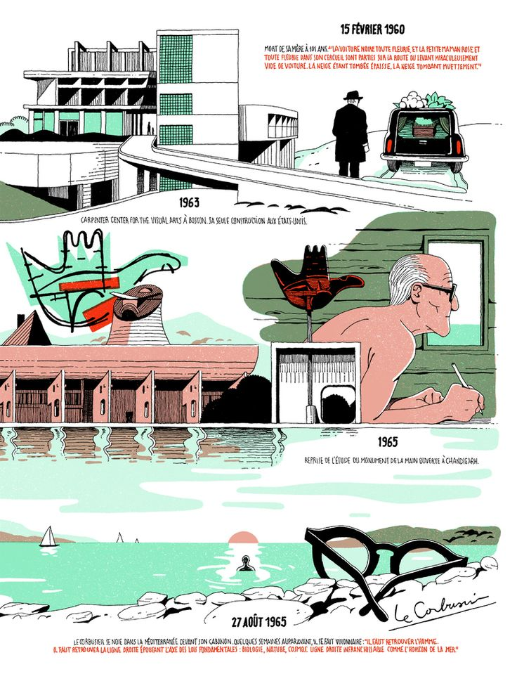 Gallery - Infographic: The Life of Le Corbusier by Vincent Mahé - 3