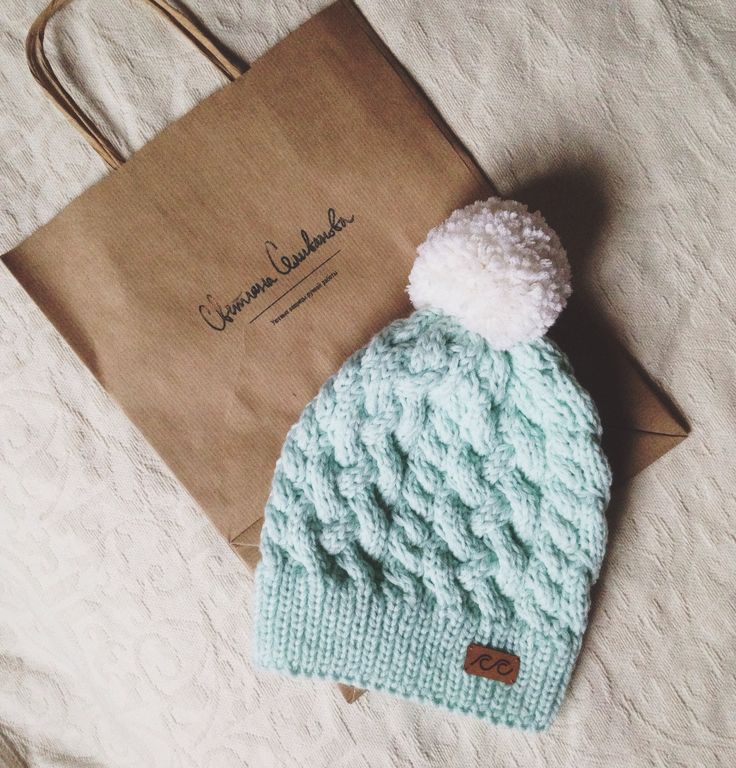 Wool mint hat knitted by #svetlanaselivanova