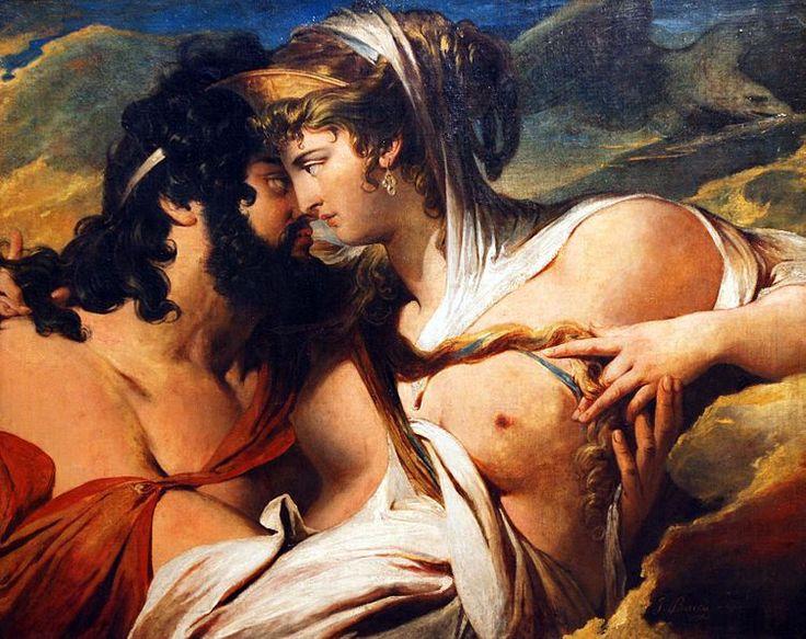 Siglo XVIII. James Barry pintó a Hera distrayendo a Zeus para favorecer a los griegos